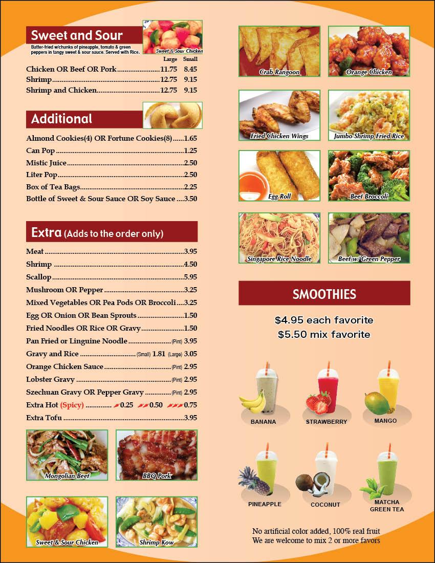 Grand Chinese Kitchen Menu